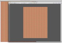 Working on a fox-head houndstooth...