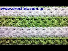 Punto fantasía N° 11 en tejido crochet tutorial paso a paso. - YouTube