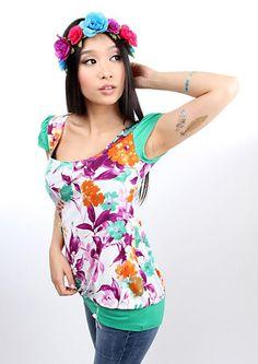 "MEKO  Shirt  ""EASY_18Blume10"" von meko® Store   auf DaWanda.com"