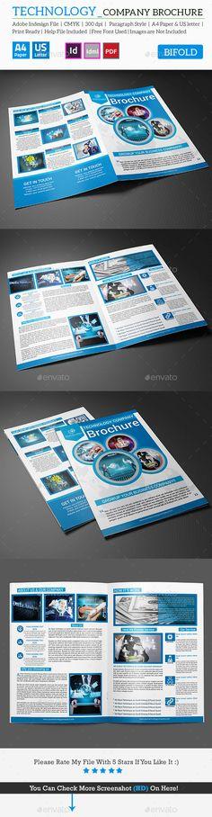 Brochure Creative, Brochures and Business - technology brochure template