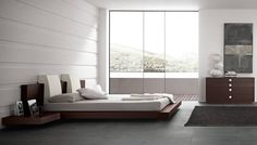 Made in Italy Wood Modern Master Bedroom Set with Headboard Pillows Garland Texas Rossetto-Win-Floating