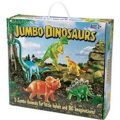 Absolutely Prehistoric| Dinosaur Toys| Toys: Jumbo Dinosaurs Toy Set