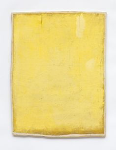 Available for sale from Buchmann Galerie, Lawrence Carroll, Untitled (Yellow Painting) Oil and wax on canvas on wood, 42 × × cm Lawrence Carroll, Yellow Art, Yellow Painting, Mellow Yellow, Sketchbook Inspiration, Painting Inspiration, Art Criticism, New York Museums, Mirror Painting