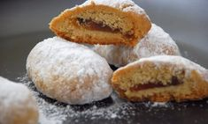 Greek Sweets, Greek Desserts, Greek Recipes, Fun Desserts, Dessert Recipes, Cookbook Recipes, Cooking Recipes, Greek Cookies, Cake Mix Cookie Recipes