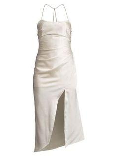Significant Other Lucine Slit Dress In Cream Significant Other, Slit Dress, Designer Shoes, Designer Handbags, Online Shopping Stores, Satin Dresses, Diane Von Furstenberg, Jimmy Choo, Christian Louboutin