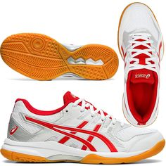 Face down any opponent in the women's GEL-ROCKET™ 9 indoor sports shoe by ASICS. With forefoot GEL® technology for shock absorption and lasting comfort, this versatile shoe has the features you need to put in an outstanding performance. Extra cushioning is provided by the springy EVA midsole, with added rebound properties to give you a real boost as you race across court. All Volleyball, Gel Cushion, Asics Women, Rebounding, Sports Shoes, Under Armour, Pairs, Indoor, Technology