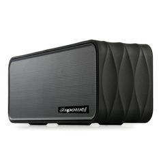 Simpowel V8 Portable Bluetooth Speaker with FM Radio, Micro SD Mp3 Player, NFC and- Removable 18650 Li-ion Battery- 9W(4.5W X 2) wireless speaker with Passive Radiator - (Black) ** You can get more details by clicking on the image. (This is an affiliate link) #BluetoothSpeakers