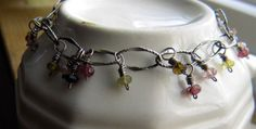 Tourmaline and sterling silver adjustable by GemBeadJewelry, $48.00