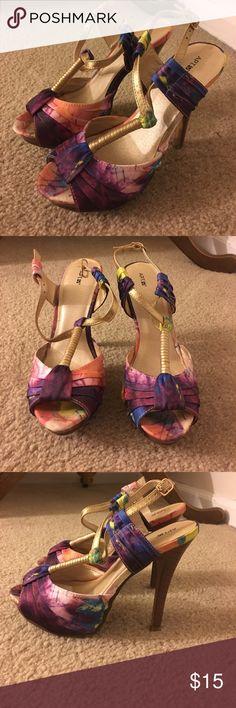 Selling this Watercolor Heels on Poshmark! My username is: jnadam. #shopmycloset #poshmark #fashion #shopping #style #forsale #Apt. 9 #Shoes