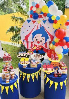 2nd Birthday Party Themes, Baby Boy Birthday, Circus Birthday, Circus Party, Boy Birthday Parties, Birthday Party Decorations, Birthday Celebration, Circus 1st Birthdays, First Birthdays