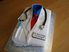 Celebration cake for a doctor who completed his cardiology specialty.