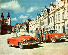 Škoda Felicia a Tatra 603 F1 Posters, Europe Centrale, Old Signs, Love Car, Automotive Design, Cool Photos, Interesting Photos, Old Cars, Hot Wheels