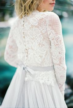 Lace long sleeve wedding dress: Wedding Dress: JLM Couture - http://www.jlmcouture.com/Hayley-Paige Wedding Dress: Caroline Castigliano - http://www.stylemepretty.com/portfolio/caroline-castigliano-2 Photography: Momento Cativo - momentocativo.com/   Read More on SMP: http://www.stylemepretty.com/destination-weddings/2017/05/25/switzerland-inspiration-session/