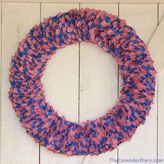 American Flag Toothpick Wreath