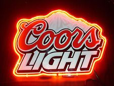 Coors light frosted tin sign beer and bar signs pinterest new coors light logo beer bar pub store garage display neon sign 13 aloadofball Images