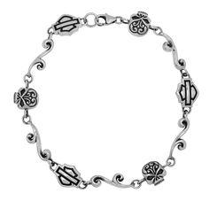 harley jewelry for women | Harley-Davidson® Womens .925 Silver Filigree Skull Chain Bracelet by ...