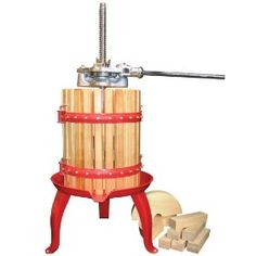 Fruit and wine press...