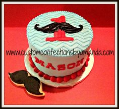 Mustache parties are all the rage now. So of course I was grinning from ear to ear when a customer told me about her sons first birthday party theme. I have been dying to make mustache cookies for… Little Man Birthday Party Ideas, Little Man Party, Baby Boy First Birthday, Birthday Bash, First Birthday Parties, First Birthdays, Birthday Ideas, Mustache Birthday Cakes, Mustache Cake
