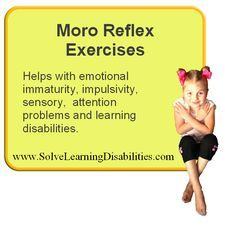 Retained Moro Reflex Exercises for children with disabilities and disorders-With example photos!