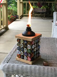 Beer Cap Tiki Torch Holder -a must for the Mosquito season!