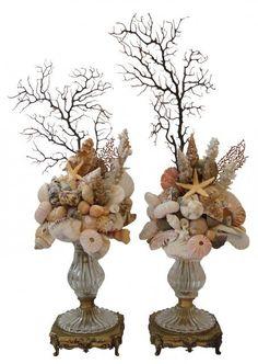 Risultati immagini per conchiglie su basi di legno