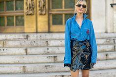 Best Paris Fashion Week Street Style Spring 2017 - Paris Street Style