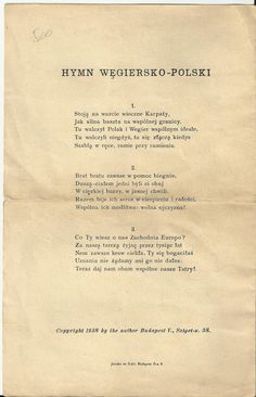 Hungarian-Polish Anthem