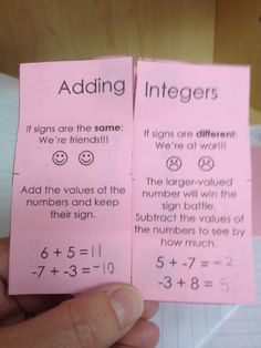 Made 4 Math Monday – Foldables (Expressions, PEMDAS, Decimals, Fractions and Integers) « Hoppe Ninja Math – Teacher Blog Adding And Subtracting Integers, Subtraction Of Integers, Addition Of Integers, Subtracting Negative Numbers, Negative Integers, Fractions, Multiplication, Rational Numbers, Math Notes