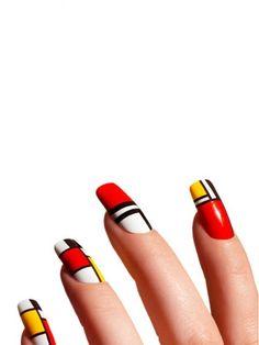 Mondrian nails by jolene