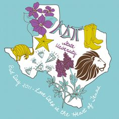 Great idea--a shirt themed around your chapter's state! (from geneologie.com, an ADPi licensed vendor)