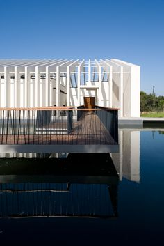 Mora River Aquarium by Promontorio Architecture – Mora, Portugal Arch Building, Building Exterior, Architecture 101, Contemporary Architecture, Contemporary Design, Aquarium, Portugal, Best Architects, Construction