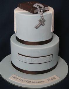 A simple boyish cake for a First Communion #firstcommunion #boy