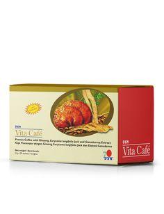 """Maca Vita Café  Dettagli del prodotto """"OFFERTA SPECIALE SOLO PER COLORO CHE EFFETTUANO LA REGISTRAZIONE CLIENTE ABITUALE""""  Il Maca Vita Café contiene caffè istantaneo, polvere di ginseng (Panax ginseng), polvere di Maca (Lepidium meyenii) ed estratto di Ganoderma. Il suo gusto viene migliorato dallo zucchero di canna e dalla panna vegetale.  Contenuto della scatola 20 bustine x 21 g"""