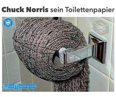 Chuck Norris Witze - Sein Toilettenpapier aus Stacheldraht