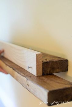 diy deep picture ledge inspired by west elm, shelving ideas, wall decor, woodworking projects Picture Shelves, Picture Ledge, Photo Ledge, Ledge Shelf, Wall Shelves, Cute Office Supplies, Reclaimed Doors, Hanging Frames, Hanging Art