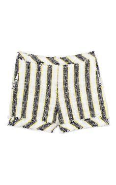 Nubby Stripe Shorts by MSGM Now Available on Moda Operandi