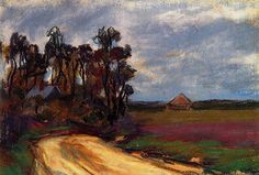 The Road and the House Claude Monet - circa 1885