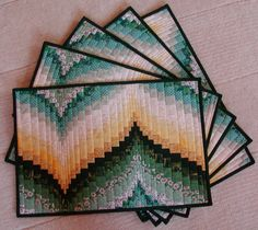 Bargello place mats, would actually like to see this done as a quilt