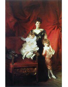 Mrs. Cazalet and Children Edward & Victor