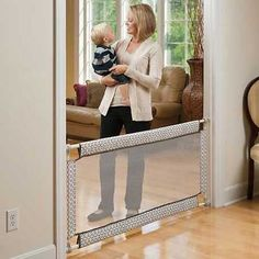 Baby Safety Gate Soft Mesh Extra Wide Home Doorway Hallway Infant Toddler Pet…
