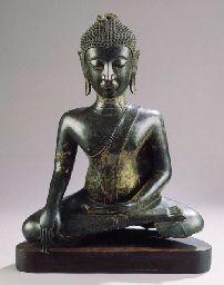 a north thai, ayutthaya style, bronze figure of buddha sakyamuni , CENTURY Art Thai, Arched Eyebrows, Buddha Statues, 16th Century, Southeast Asia, Buddhism, Old World, Sculptures, Bronze