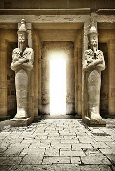 The Mortuary Temple of Pharaoh Hatshepsut,located beneath the cliffs at Deir el Bahari on the west bank of the Nile near the Valley of the Kings.