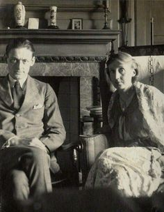 "les-yeux-avides: "" ""My dear Virginia, Five thousand words are no drawback, when the words are yours. Eliot in a letter to Virginia Woolf ph. Eliot and Virginia Woolf by Lady Ottoline. Writers And Poets, Virginia Woolf, Book Writer, Book Authors, Books, Guernica, Lady Ottoline, Bloomsbury Group, Foto Poster"