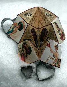 Download this fabulous #valentine fortune teller print out and instructions from empire-edibles for free! #steampunk