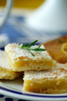 Rosemary Lemon Squares (From The Kitchy Kitchen/Food For Thought With Claire Thomas)