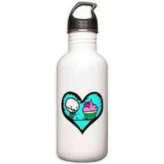 No more plastic bottles, I'm switching to stainless water bottles, from Rocky The Zombie, of course!