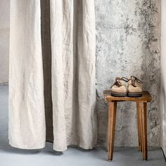 Washed and handmade natural linen curtains for relaxed look.  ++++++++++++++++++++++++++++++++++++++++++++++++++++++++++++++++++  LOOK  Washed, soft and has naturally born wrinkles after washing process. The linen is of medium weight so it is not sheer though it is not blackout and lets the lightening inside.  ++++++++++++++++++++++++++++++++++++++++++++++++++++++++++++++++  FINISH  The panel comes with ties, rod pocket or a hem for clipping. Please make a choice on the right.  TIES  - Each…