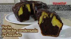 TORTA DE LECHE CONDENSADA Y CHOCOLATE  de licuadora fácil, rápida y deli...