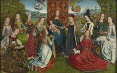 La Vierge parmi les vierges, par le maître de la Légende de sainte Lucie