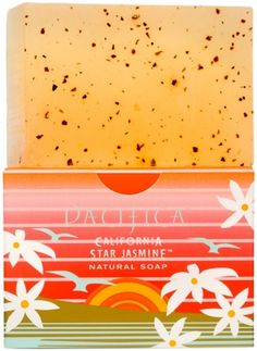 Luxury Soap Bar by Pacifica - California Star Jasmine - is a Natural Soap Bar - Gluten Free - Natural Vegan Soap Bar. Dreamy, beautiful star jasmine is woven into subtle, lush driftwood notes. Bright orange shines at the top. Carefree & sun kissed. #Vegan #SoapBar #Pacifica #Jasmine #CaliforniaStar #DrySkin